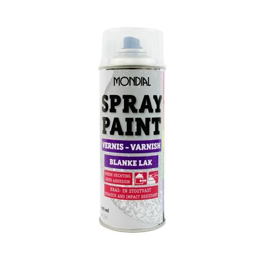 Spuitbus verf Mondial Spray Paint Blanke lak hoogglans
