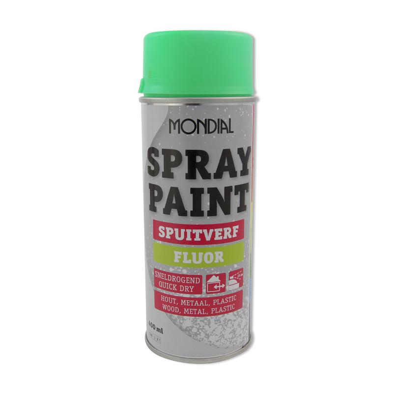 Spuitbus verf Mondial Spray Paint Fluorescerend groen