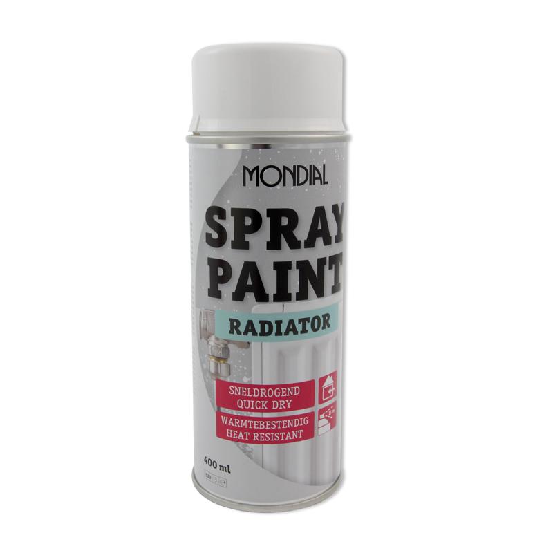 Spuitbus verf Mondial Spray Paint Radiatorlak wit