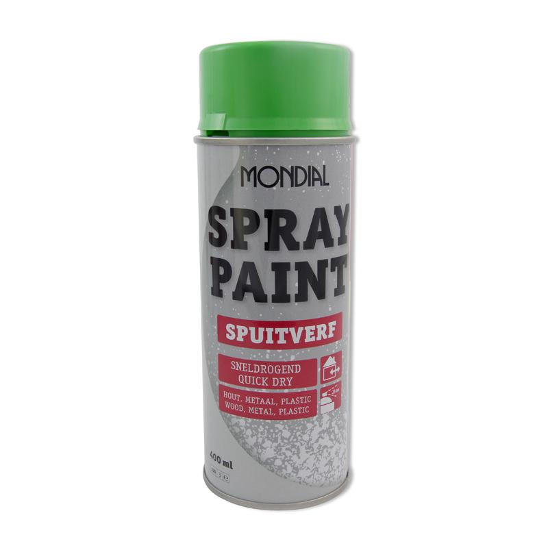 Spuitbus verf Mondial Spray Paint Ral 6018