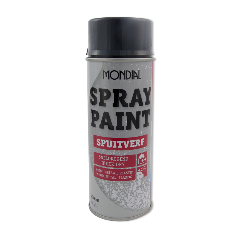 Spuitbus verf Mondial Spray Paint Ral 7016